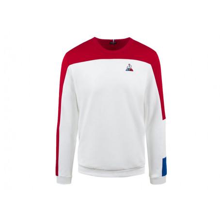 Le Coq Sportif Felpa Uomo Tri Crew Sweat n°1 2020518 Bianco