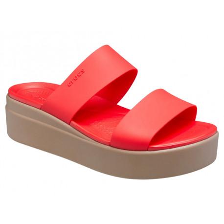 Crocs Brooklyn Mid Wedge 206219-6SQ Donna Corallo