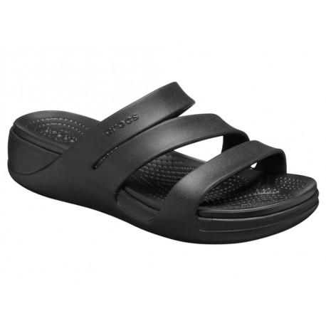 Sandalo Crocs Monterey Wedge 206304 Donna Nero