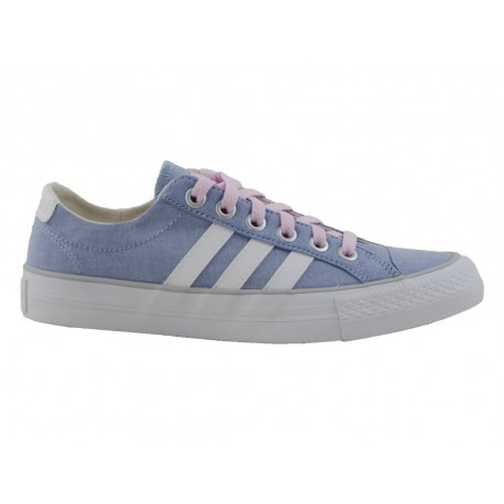 Scarpe Adidas Vlneo 3 stripes low woman donna azzurro