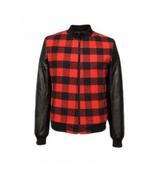 Over-d Giacca bomber scacchi