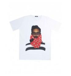 T-shirt M!!to casual sportive cotone con grafiche colorate girocollo bianco