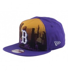 New Era Cappellino visiera piatta scape city boston red
