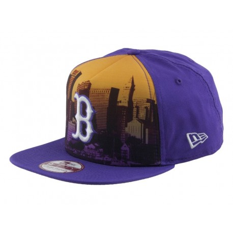 Newera Cappellino visiera piatta scape city boston red