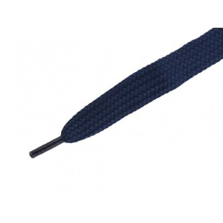 Lacci Scarpe Piatti Monocolore Blu 8mm